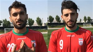 گفتگوی جذاب با مهدی خانی و آقاسی در تمرینات تیم ملی