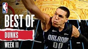 برترین اسلم دانک های هفته یازدهم بسکتبال NBA