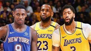 خلاصه بسکتبال لسآنجلس لیکرز - نیویورک نیکس