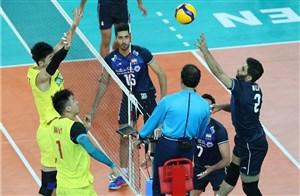 خلاصه والیبال ایران 3 - چین 0 (انتخابی المپیک)