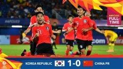 خلاصه بازی کره جنوبی 1 - چین 0 (زیر 23 سال آسیا)