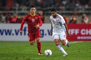 خلاصه بازی امید ویتنام 0 - امید امارات 0