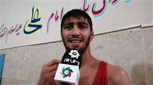 قهرمانی احمد بذری در وزن 86 کیلوگرم با غلبه بر زمان