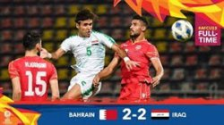 خلاصه بازی امید بحرین 2 - امید عراق 2