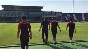 ورود اعضای تیم ملی امید ایران به ورزشگاه
