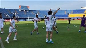 ورزشگاه سونگلای؛ سی دقیقه مانده به بازی امیدایران و کره