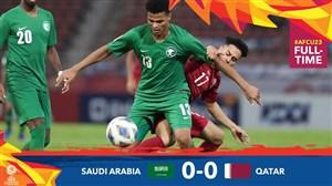 خلاصهبازیامید عربستان 0- امید قطر 0 (زیر 23 سال)