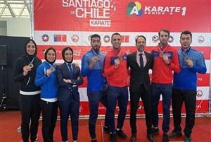 قهرمانی تیم ملی کاراته ایران در لیگ جهانی شیلی