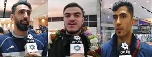 صحبتهای بازیکنان تیم ملی والیبال پساز کسب سهمیه المپیک
