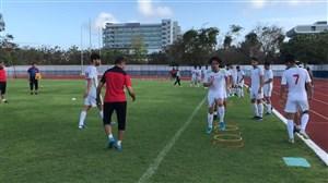 آخرین تمرینات تیم ملی امید پیش از دیدار با چین