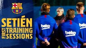 اولین روز حضور کیکه ستین در بارسلونا