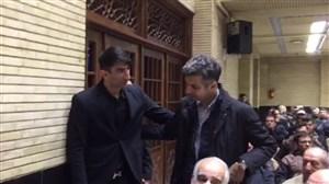 حضور فردوسی پور و بیرانوند در مراسم ختم مرحوم نادر باقری