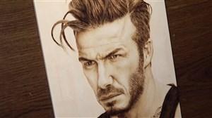 طراحی زیبای چهره دیوید بکهام