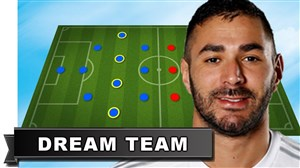 تیم منتخب و رویایی کریم بنزما مهاجم رئال مادرید