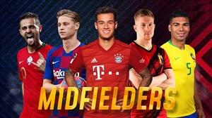 10 هافبک وسط برتر فوتبال اروپا در سال 2020