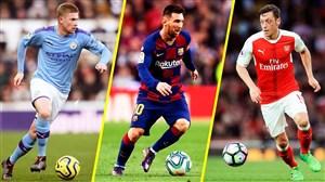 15 متخصص برتر پاس گل در یک دهه فوتبال