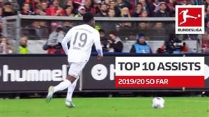 10 پاس گل برتر بوندسلیگا در فصل 20-2019