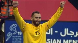 گل زیبای دروازه بان تیم ملی هندبال برابر بحرین