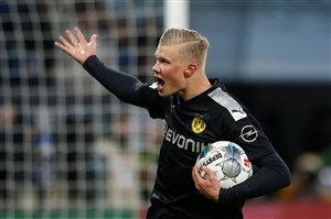 ارلینگ هالند تعویض طلایی دورتموند مقابل آگزبورگ