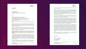 ماجرای نامه AFC برای تضمین امنیتی در ایران