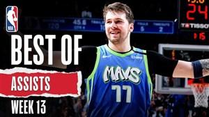 برترین پاس گل های هفته سیزدهم بسکتبال NBA