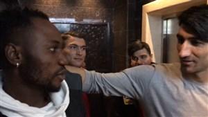 شوخیهای بیرانوند با اوساگوآنا و بازیکنان پرسپولیس