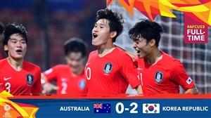 خلاصه بازی امید استرالیا 0 - امید کره جنوبی 2