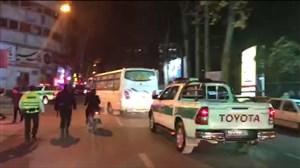 خروج اتوبوس تیم ستارگان ورامین با اسکورت پلیس