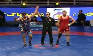 پیروزی ساروی مقابل علیاری در جام تختی(97 کیلو)