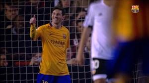 برترین گلهای بارسلونا در مقابل والنسیا