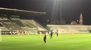 تمرین استقلال پشت درهای بسته ورزشگاه دبی