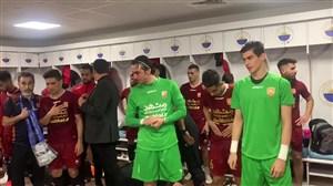 شادمانی بازیکنان شهرخودرو پس از پیروزی برابر الرفاع