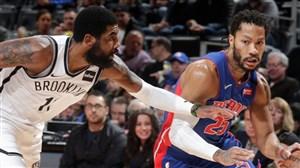 خلاصه بسکتبال دیترویت پیستونز - بروکلین نتس