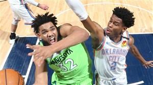 خلاصه بسکتبال مینه سوتا - اوکلاهما سیتی