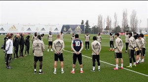 راموس باپیراهن برایانت در تمرین امروز رئال مادرید