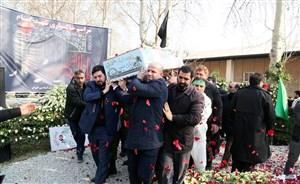 مراسم تشییع شهید گمنام با حضور وزیر ورزش و اهالی کشتی