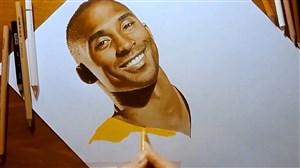 طراحی چهره کوبی برایانت بازیکن فقید بسکتبال NBA