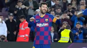 گلزنی مسی برای بارسلونا در مقابل لگانس