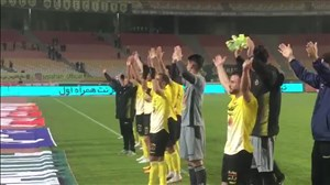 جشنبازیکنان و هواداران سپاهان پس پیروزی مقابل فولاد