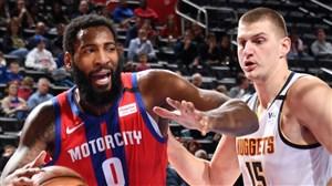 خلاصه بسکتبال دیترویت پیستونز - دنور ناگتس