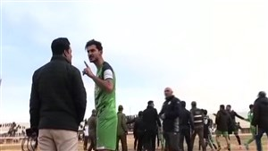 درگیری شدید در بازی لیگ دسته 2 کشور