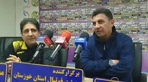 نشست خبری قلعه نویی پیش از بازی با نفت مسجدسلیمان