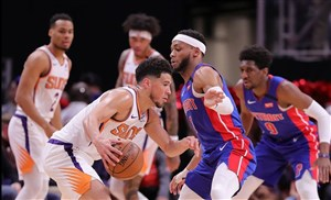 خلاصه بسکتبال دیترویت پیستونز - فینیکس سانز