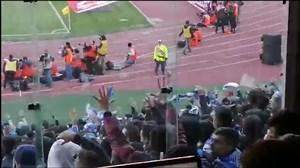 خوشحالی هواداران استقلال پس از گل دوم به پرسپولیس