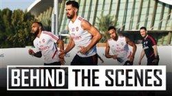 حواشی تمرین آرسنال در دبی
