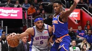 خلاصه بسکتبال دیترویت پیستونز - نیویورک نیکس