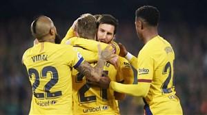 بتیس 2-3 بارسلونا: ستین در ویامارین سربلند شد