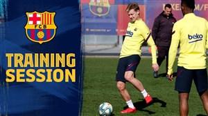 تمرینات بارسلونا پس از برد سخت مقابل بتیس