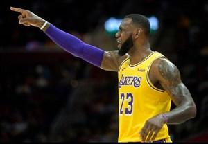 لیگ NBA؛ پیروزی لیکرز با درخشش جیمز