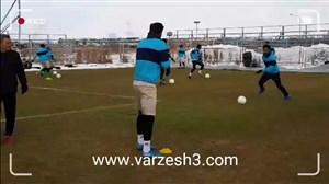 گزارشی برفی از فوتبال تبریز